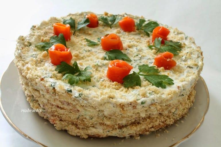 Закусочный торт: аппетитный, вкусный и очень красивый! 1