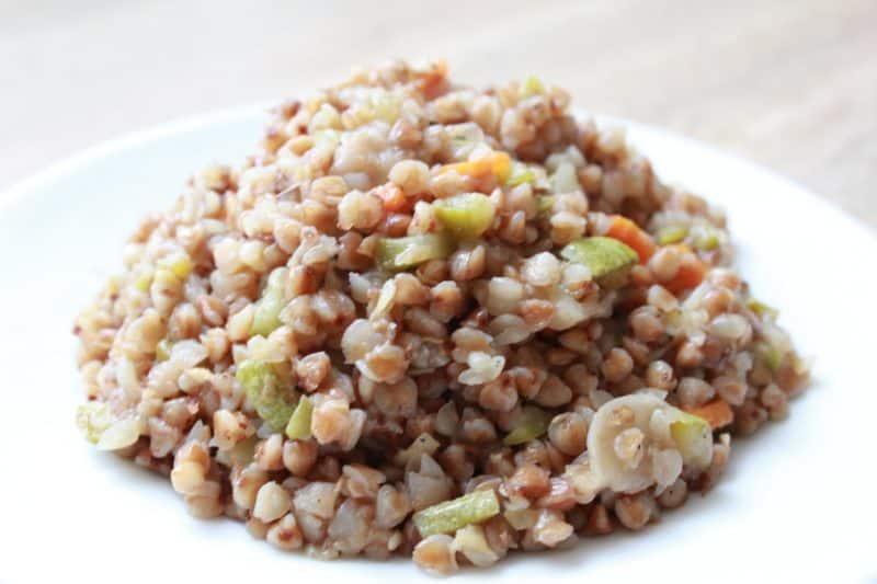 Гречка с рисом овощами и мясом