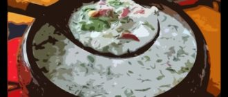 Окрошка с творогом – лёгкое и быстро приготавливаемое блюдо. 12