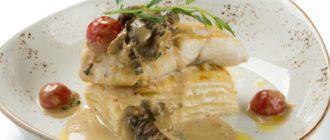 Осетрина с грибным соусом. Традиционное русское блюдо. 9