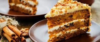 Морковный торт - постный, полезный, диетический тортик 16