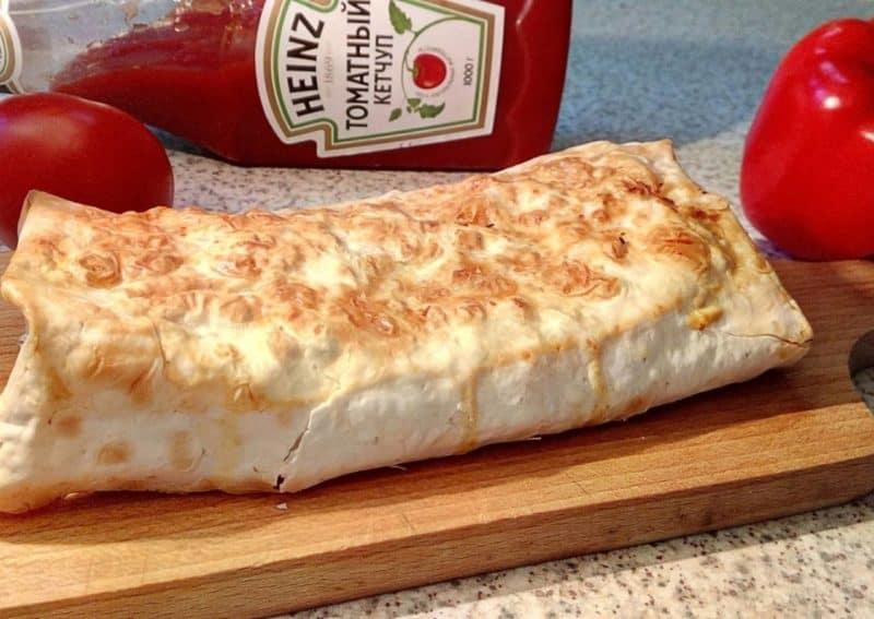 Лаваш с сыром и куриным филе: в духовке 2