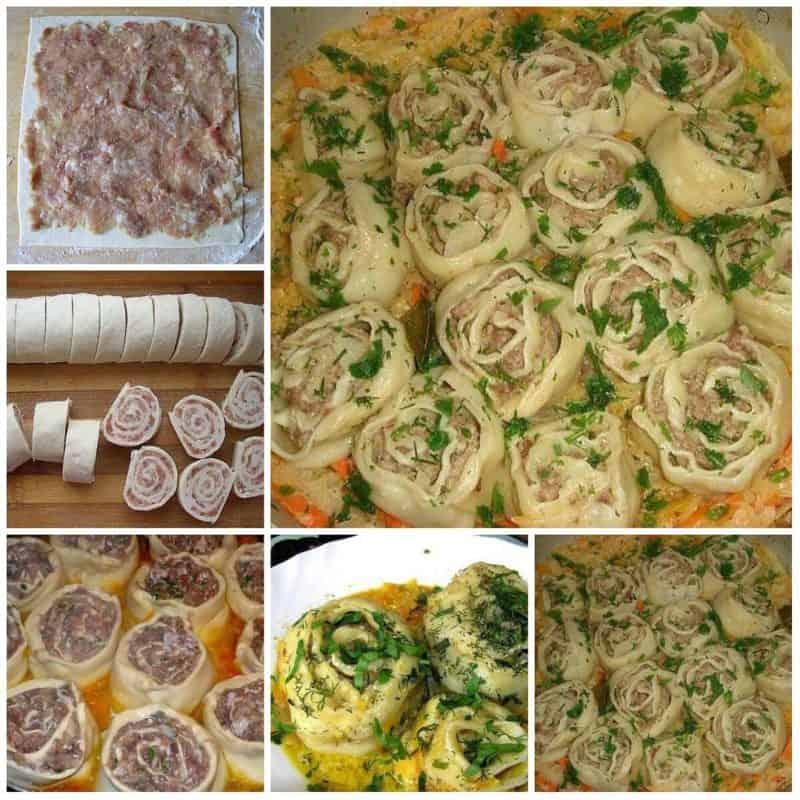 Ленивые пельмени с овощной подливой: шикарный обед из простых продуктов