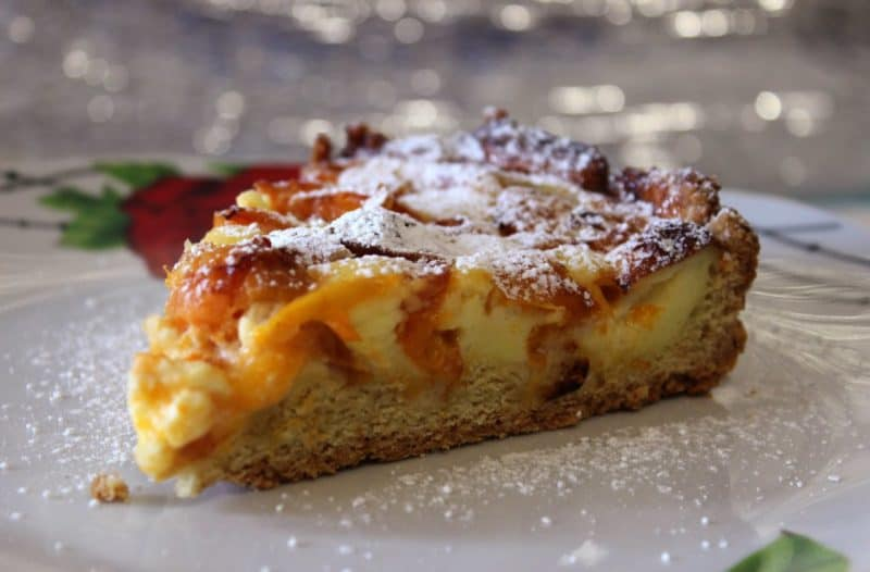Фруктовый пирог на сковороде