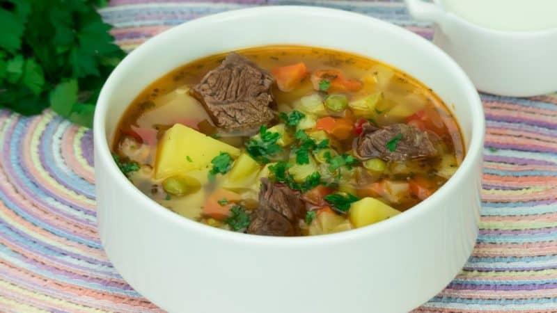 Суп с говядиной и овощами: насыщенный, вкусный и ароматный 1