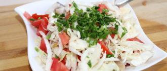 Салат из свежей капусты и рыбы: очень вкусный 2