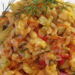 Овощное рагу: кабачки тушеные с рисом 12