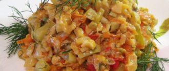 Овощное рагу: кабачки тушеные с рисом 5