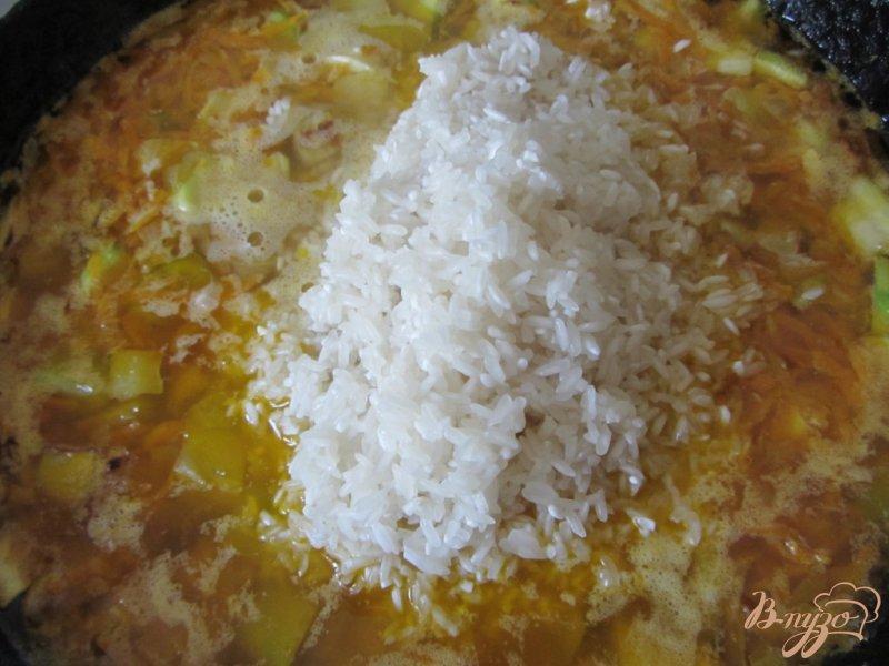 Овощное рагу: кабачки тушеные с рисом 7