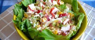 Салат с крабовыми палочками и яйцом: Очень быстрый потрясающе вкусный 15