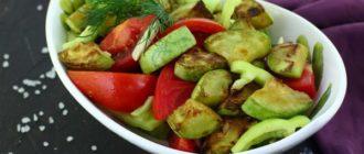 Салат из кабачков и помидоров: просто и быстро 7