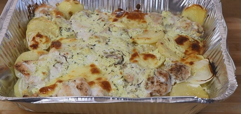 Картофельная запеканка с курицей в духовке: вкусный рецепт 1