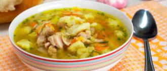 Куриный суп с клецками: на каждый день 14