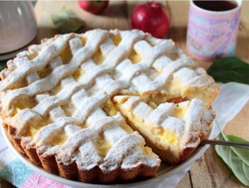 Пирог с Яблоками и Заварным Кремом: очень нежный вкуснейший, просто тает во рту 1