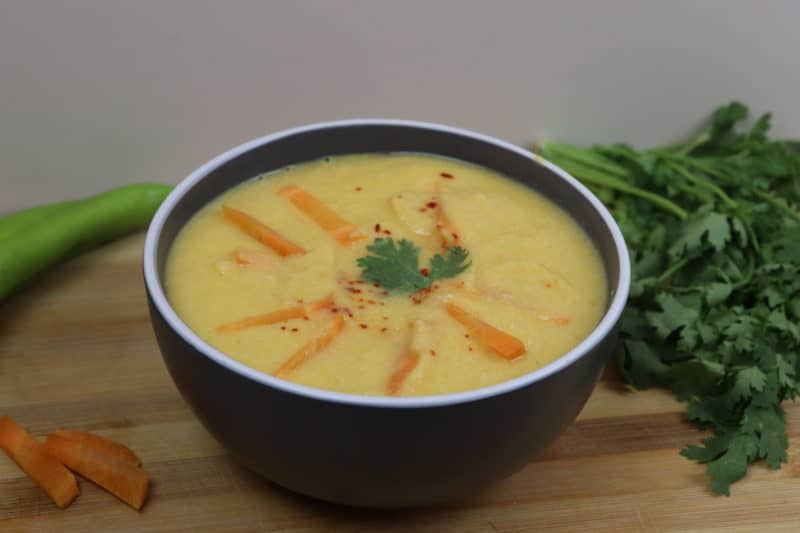 Крем суп с курицей