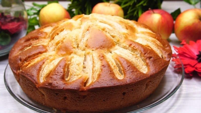 Пирог на кефире с яблоками: 10 минут время на выпечку 1