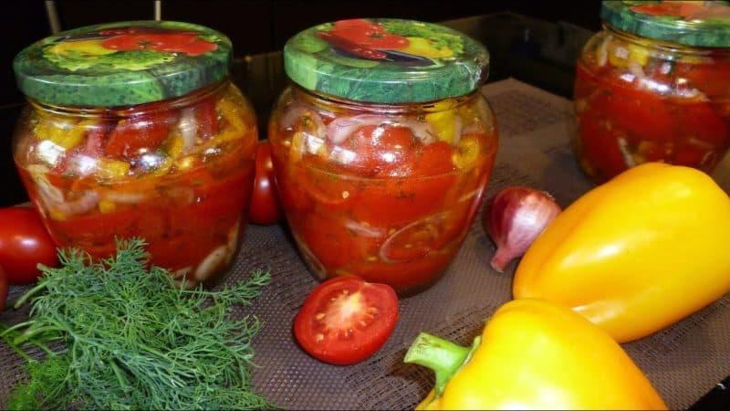 салат из помидор и перца