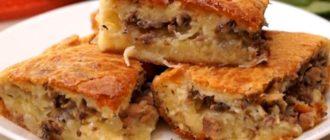 Заливной пирог с картофелем и сайрой: так и хочется взять кусочек 8