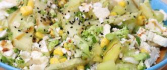 Салат из брокколи и цветной капусты: очень быстрый и сочный (Видео) 5