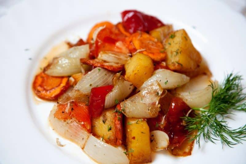Блюда из картофеля и болгарского перца