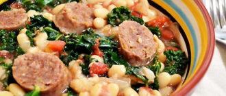 Белая фасоль с колбасой: сытное и аппетитное второе блюдо 5