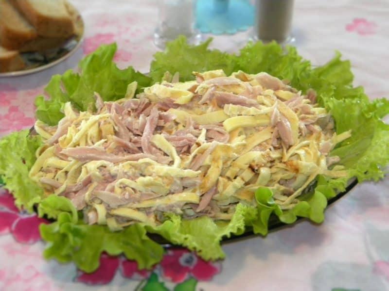 Салат с мясом и ветчиной «Анастасия» : обалденное сочетание