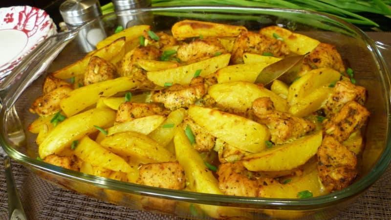 Индейка с картошкой в духовке
