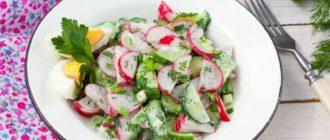 Салат с редиской и луком: весенний полезный салатик на скорую руку 3