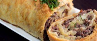 Штрудель с картошкой: сытный рулет-пирог с несладкой начинкой 2