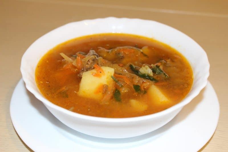 Томатный суп с кильками