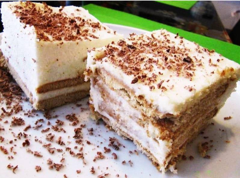 Творожный торт с желатином