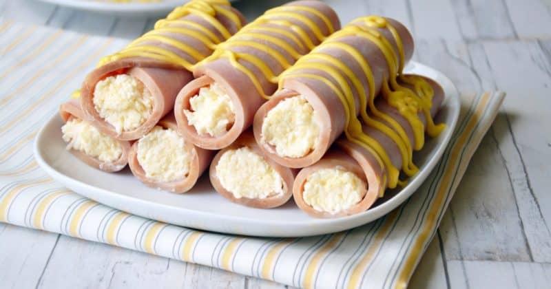 Рулетики с сыром и чесноком