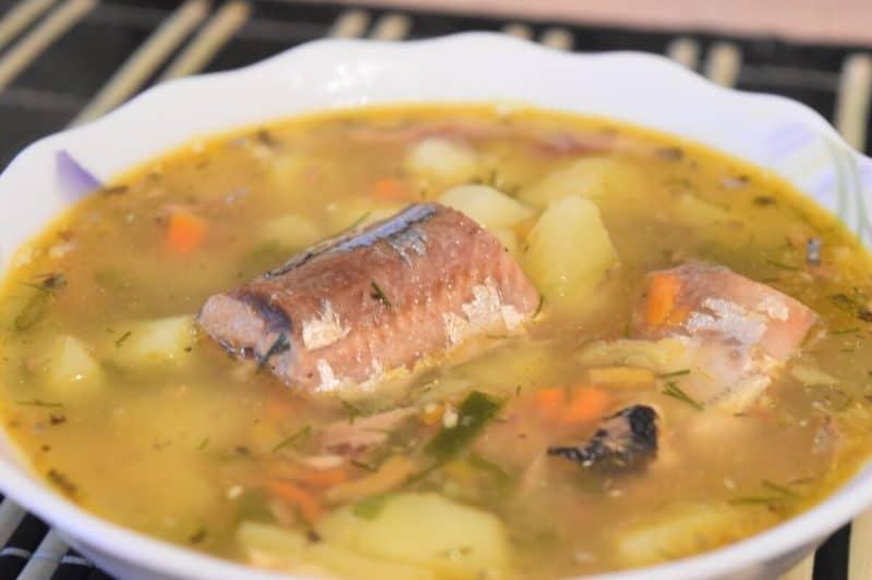 Рыбный суп с картошкой