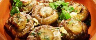 Шампиньоны с чесноком и майонезом: запеченный целиком грибы, очень вкусные , на скорую руку 8