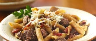 Макароны с мясом по-татарски: насыщенный вкус блюда порадует домочадцев 3