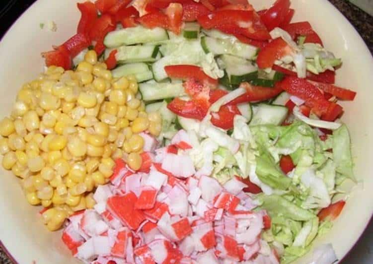 Салат Светофор: яркий витаминный салатик 1