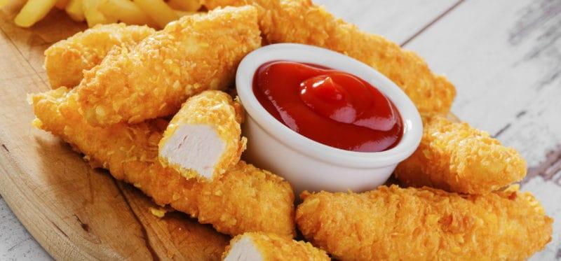 Сырные палочки из куриного филе