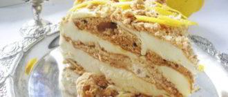 Торт со вкусом пломбира: вкуснейший и нежный торт без выпечки 6