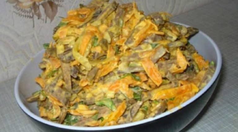 Печеночный салат с морковью. Этот салат полюбят все без исключения 1