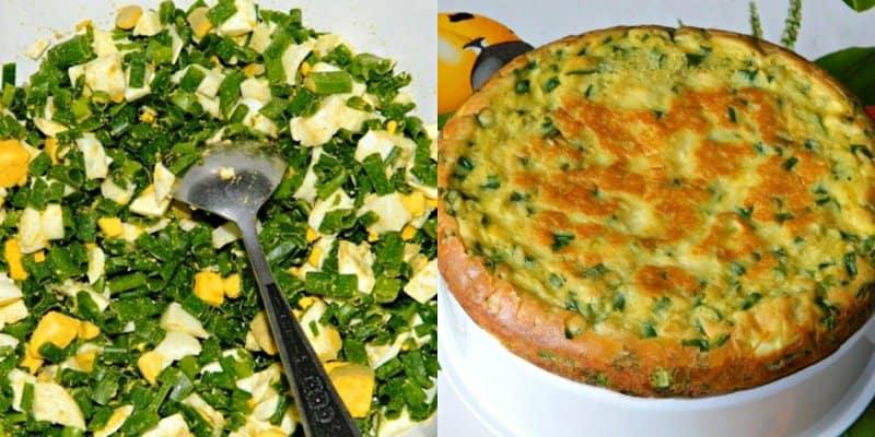Пирог с яйцами и луком в мультиварке
