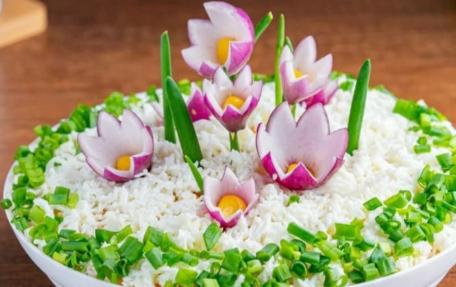Салат Весенний. Праздничный салатик в весеннее время 1