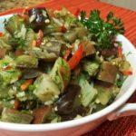 Баклажаны в виде грибочков. Майонезный соус отлично сочетается с баклажанами и придаёт им особый вкус 8
