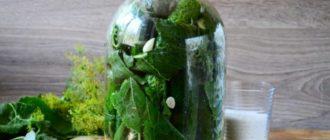 Огурцы в листьях хрена. Рецепт рассчитан на 3-х литровую банку 13