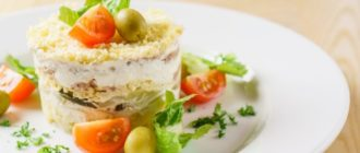 Салат Мельница. В этом салате так хорошо сочетаются куриное мясо и шампиньоны, что хочется его готовить хоть каждый день 17
