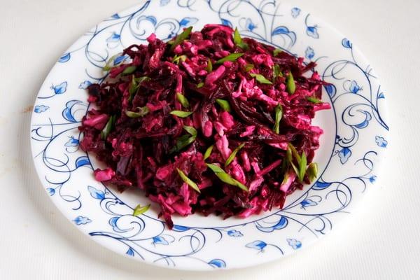 Свекольный салат Агата. Оригинальный, вкусный и полезный салатик 4