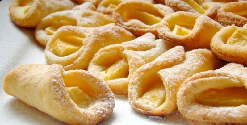 Творожные печенья с яблоками