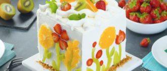 Бисквитный торт Натюрморт. Нежное лакомство с шоколадным кремом 3