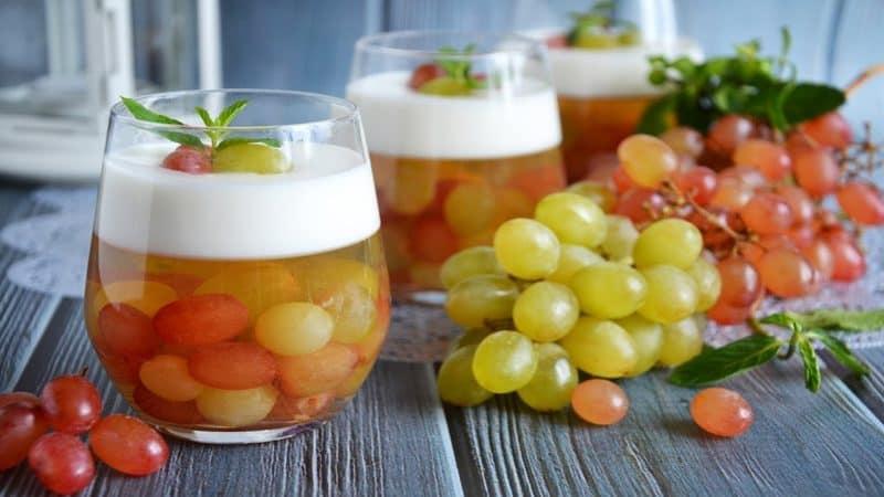 Виноград с йогуртовым желе. Оригинальное лакомство с красивой подачей 2
