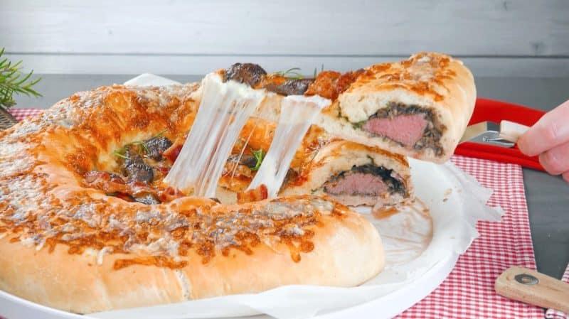 Домашняя пицца с мясным бортиком. Оригинальная закуска для всей семьи 1