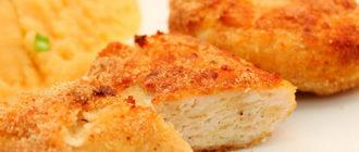 Печённые куриные котлетки с гарниром Полосатый рейс. Красивое и вкусное блюдо 8